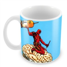 Кружка Deadpool brain
