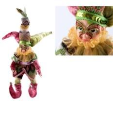 Новогодняя игрушка Шут (цвет: розовый, 30 см)