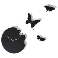 Часы настенные «Бабочки», черные