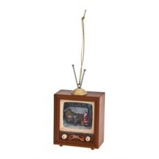 Новогодний сувенир Телевизор - Дед Мороз у дома