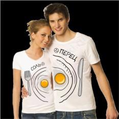 Парные футболки для двоих Соль, Перец