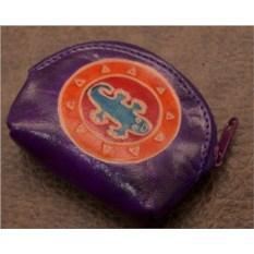 Монетница Socotra (Фиолетовый, ящерка; тип 1; кожа)