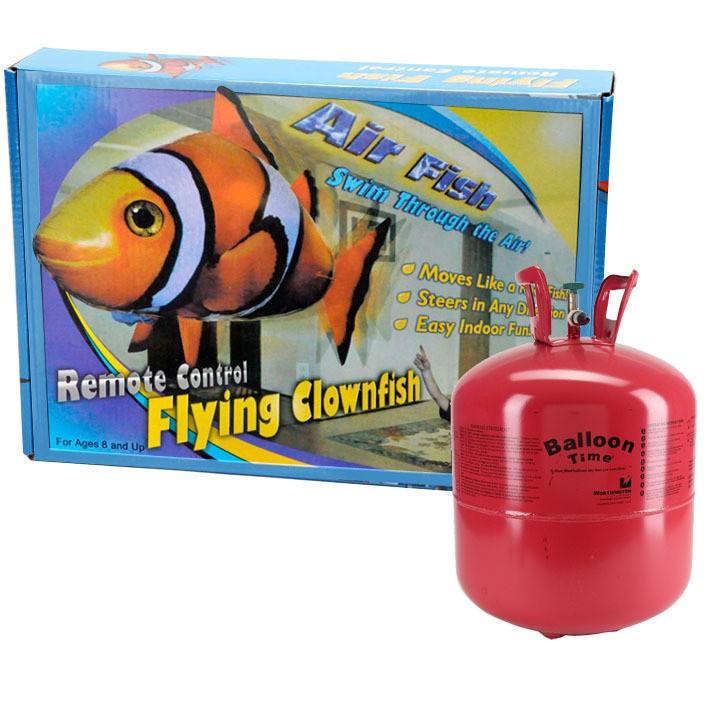 Шар Рыба клоун с дистанционным управлением + баллон с гелием