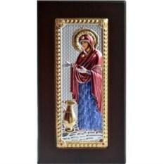 Икона в серебряном окладе Герондисса Богородица с кувшином