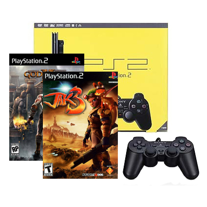 Sony PlayStation2 Slim + Jak 3 + Gog of war