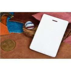 Белый кожаный чехол для пропуска / проездного Elole Design