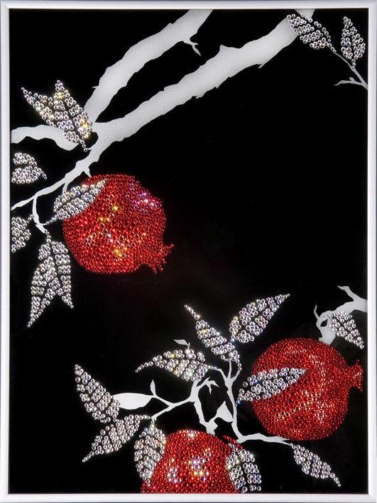Картина с кристаллами Swarovski  Ветви граната