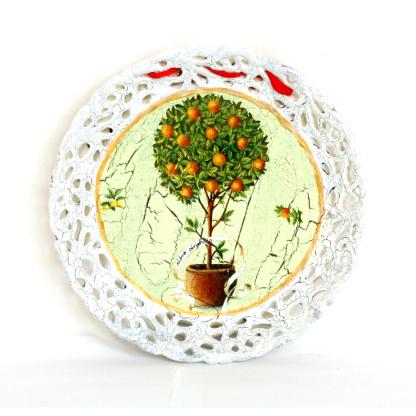 Декоративная тарелка «Апельсиновое дерево»