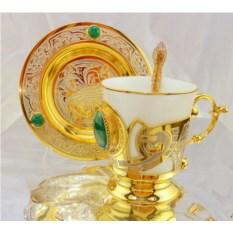 Кофейный набор Малахит
