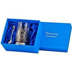 Набор для чая в синей подарочной коробке Петр I