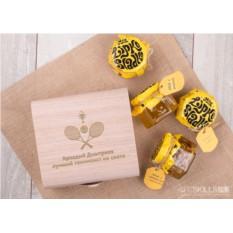 Подарочный набор мёда Лучшему теннисисту