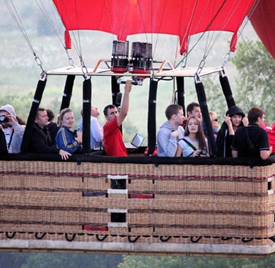 Индивидуальный полет на воздушном шаре Экстрим для троих