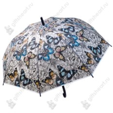 Зонт-трость Голубые мотыльки