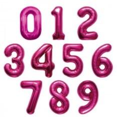 Розовый шар Цифра