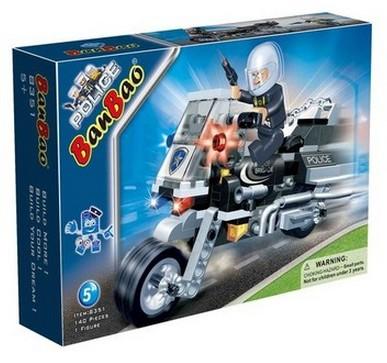 Конструктор Полицейский на мотоцикле