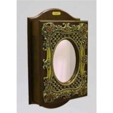 Ключница-шкафчик с овальным зеркалом