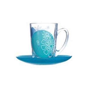 Чайный набор Graphic flowers blue