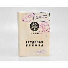 Веселая обложка для паспорта «Трудовая книжка»