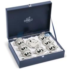 Чайный набор с посеребрением на 6 персон Аромат