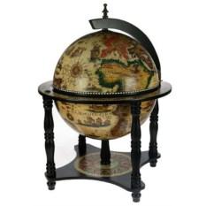 Настольный глобус-бар на 4 ножках