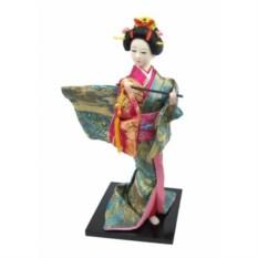 Кукла декоративная Гейша в бирюзовом кимоно