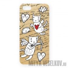 Чехол для IPhone 5 Коты-амуры