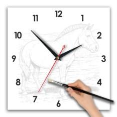 Квадратные часы-раскраска Лошадь