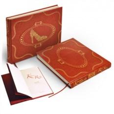 Книга в кожаном переплете Красная туфелька