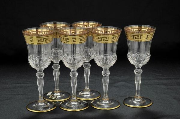 Набор из 6 хрустальных бокалов для вина Cre Art