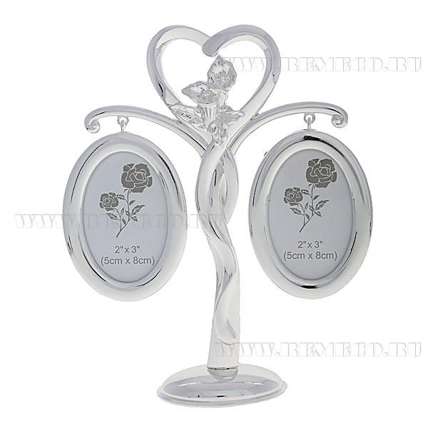 Серебряная фоторамка-дерево