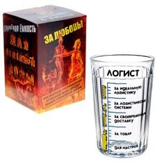 Граненый подарочный стакан Логисту
