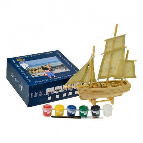 Корабль для сборки и раскраски, 24см