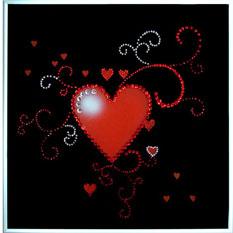 Хрустальная картина «Сердце ажурное»
