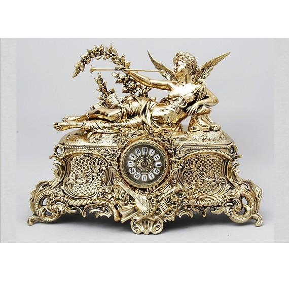Часы каминные бронзовые Муза