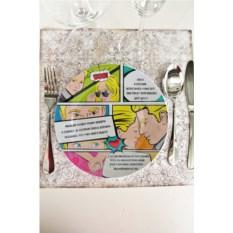 Декоративная тарелка с вашим текстом Комикс про любовь