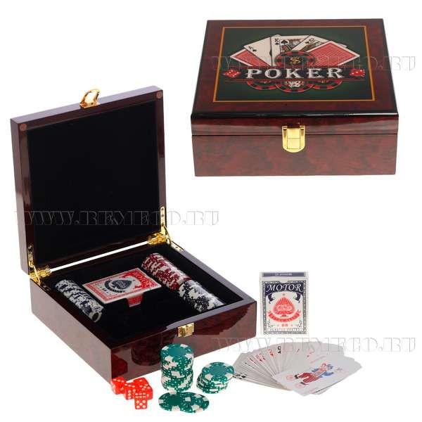 Шкатулка с игральным набором Покер