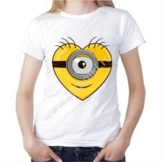 Женская футболка Сердце. Миньон