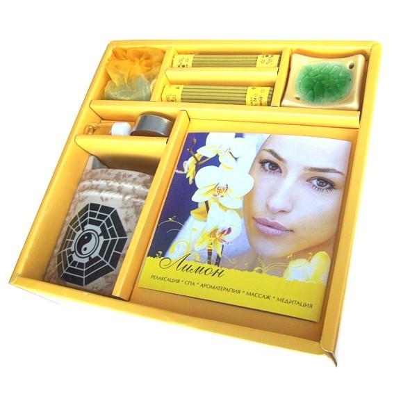 Набор с буклетом Ароматерапия «Лимон»