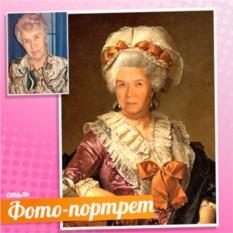 Портрет бабушки в образе знатной дамы на холсте по фото