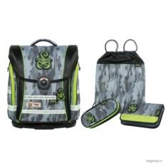 Серо-зеленый школьный ранец McNeill Ergo Light Compact