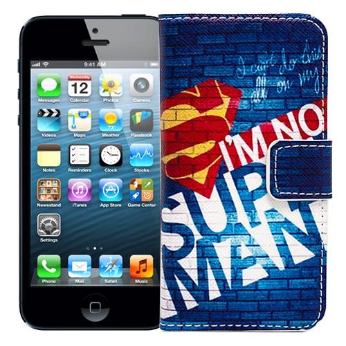 Чехол-книжка для iPhone 5/5S I'm no Superman