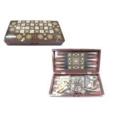 Игра 3 в1 Шахматы, шашки, нарды , размер 39,5 х 19 х 5,5см