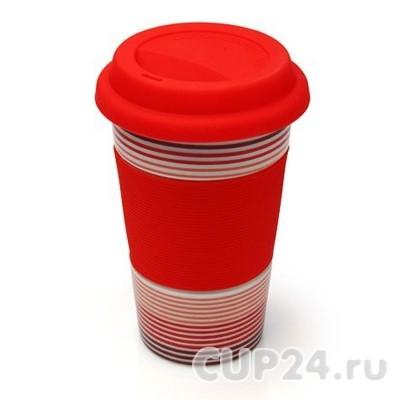 Красный эко-стакан