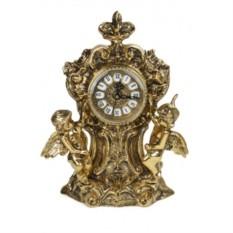 Часы из бронзы Два амура, золотые