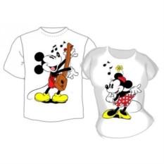 Парные футболки Микки и Мини Маус музыканты