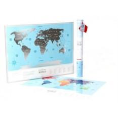 Скретч-карта мира Silver