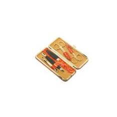 Маникюрный набор GD из 5 предметов в футляре из кожи