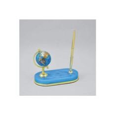 Голубой настольный глобус на подставке с ручкой Gift