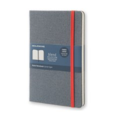Синяя тканевая записная книжка в линейку Moleskine Blend