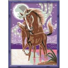 Раскраски по номерам Ravensburger Лошадь с жеребенком